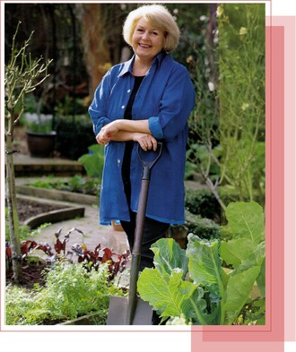 Beverley Sutherland-Smith in her Edible Garden